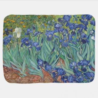 Irises by Vincent Van Gogh Receiving Blanket