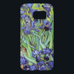 "Irises by Vincent van Gogh Samsung Galaxy S7 Case<br><div class=""desc"">A Samsung case with the oil painting,  Irises (1889),  by Vincent van Gogh (1853-1890). Blue-violet iris in the a beautiful garden landscape.</div>"
