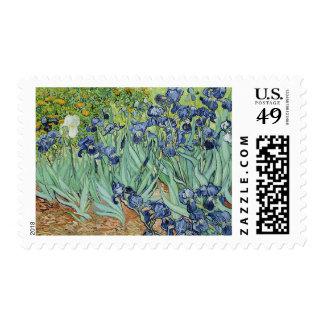 Irises by  Vincent van Gogh Stamp