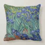 Irises by Vincent Van Gogh Throw Pillows