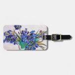 Irises by Vincent Van Gogh Travel Bag Tags