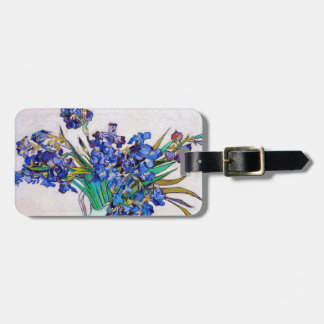 Irises by Vincent Van Gogh Travel Bag Tags