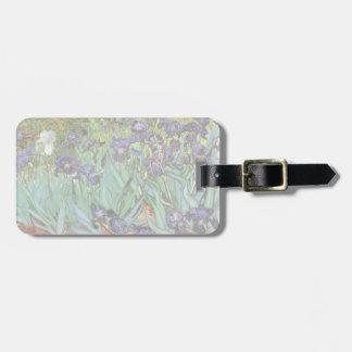 Irises by Vincent van Gogh, Vintage Flowers Art Bag Tag