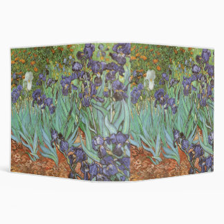 Irises by Vincent van Gogh, Vintage Flowers Art Binder