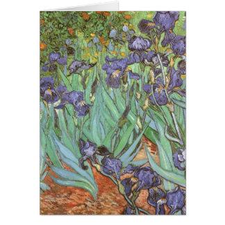 Irises by Vincent van Gogh, Vintage Flowers Art Card