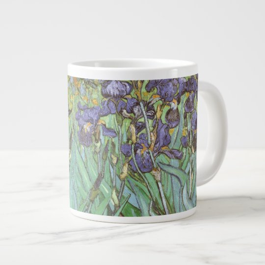 Irises by Vincent van Gogh, Vintage Flowers Art Large Coffee Mug