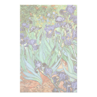 Irises by Vincent van Gogh, Vintage Flowers Art Stationery