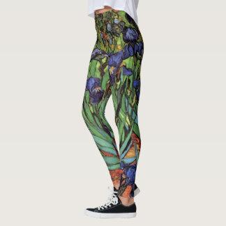 Irises by Vincent van Gogh, Vintage Garden Art Leggings
