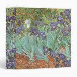 Irises by Vincent van Gogh, Vintage Garden Flowers Binder
