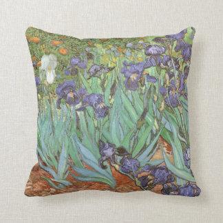 Irises by Vincent van Gogh, Vintage Garden Flowers Throw Pillow
