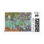 Irises by Vincent van Gogh, Vintage Garden Flowers Postage