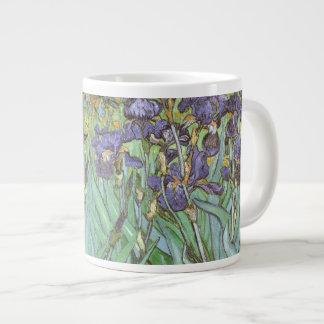 Irises by Vincent van Gogh, Vintage Garden Flowers Extra Large Mug