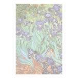 Irises by Vincent van Gogh, Vintage Garden Flowers Stationery