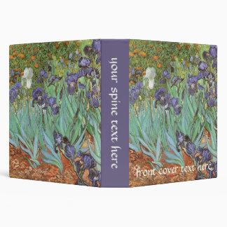Irises by Vincent van Gogh, Vintage Impressionism 3 Ring Binders