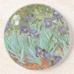 Irises by Vincent van Gogh, Vintage Impressionism Drink Coaster