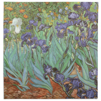 Irises by Vincent van Gogh, Vintage Impressionism Cloth Napkins