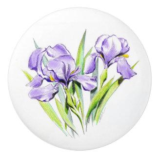Irises Ceramic Knob