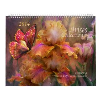 Irises Collection 1 Art Calendar 2014