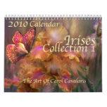 Irises - Collection 1 Calendar for 2010