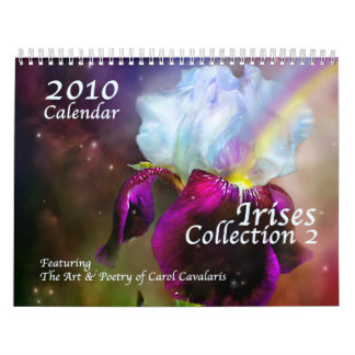 Irises - Collection 2 Calendar for 2010