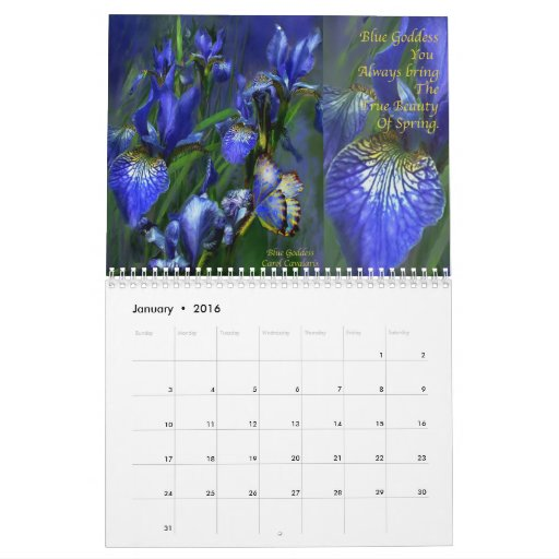 Irises - Collection 2 Calendar for 2010