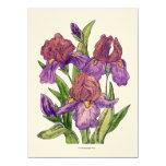 Irises Custom Invitation
