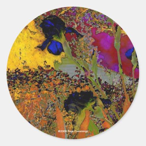 Irises for Vincent Classic Round Sticker