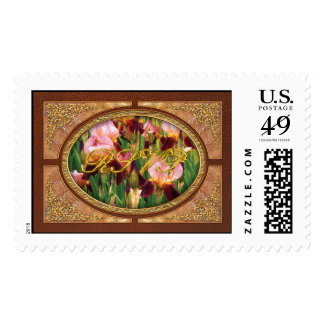 Irises - GY Morrison Postage Stamps