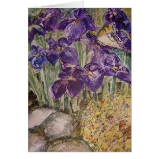 """Irises In A Field"" Greeting Card"