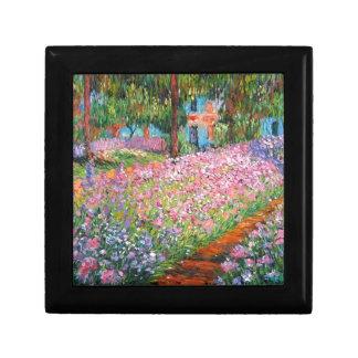 Irises in Artist's Garden Jewelry Box