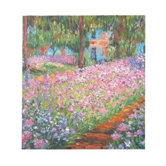 Irises in Artist's Garden Notepad