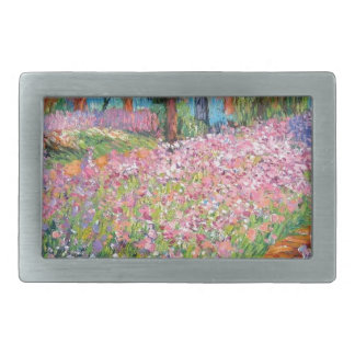Irises in Artist's Garden Rectangular Belt Buckle