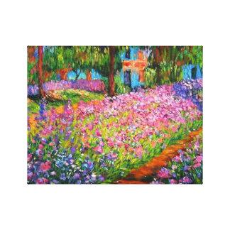 Irises in Monet's Garden Canvas