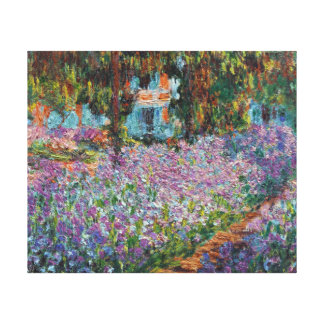 Irises in Monet's Garden Canvas Print
