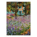 Irises In Monet's Garden Card