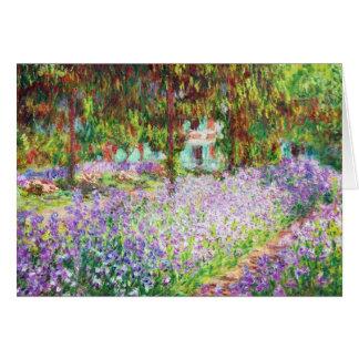 Irises in Monet's Garden Claude Monet Stationery Note Card
