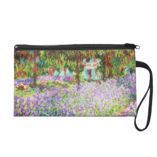 Irises in Monet's Garden Claude Monet Wristlet Purse