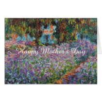 Irises in Monet's Garden Fine Art Mother's Day Card
