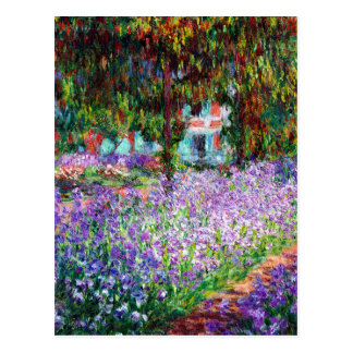 Irises in Monet's Garden Postcard