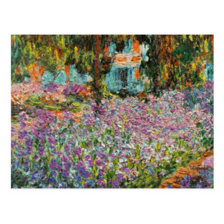 Irises In Monet's Garden Postcard