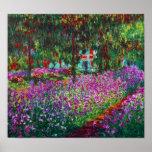 Irises in Monet's Garden Poster
