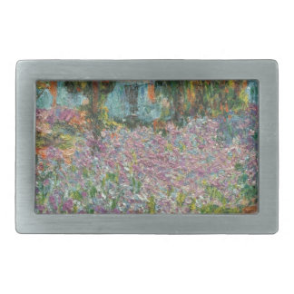 Irises in Monet's Garden Rectangular Belt Buckle