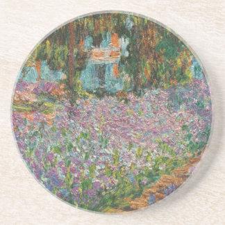 Irises in Monet's Garden Sandstone Coaster