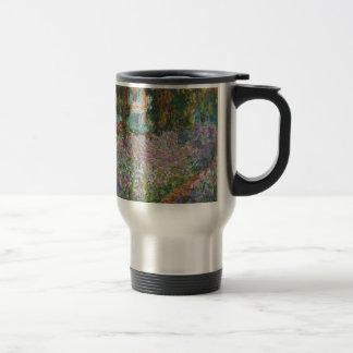 Irises in Monet's Garden Travel Mug