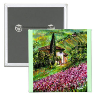 IRISES IN TUSCANY BUTTON