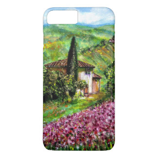 IRISES IN TUSCANY,Purple Flower Fields Landscape iPhone 8 Plus/7 Plus Case