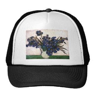 Irises in Vase by Vincent Van Gogh Mesh Hat