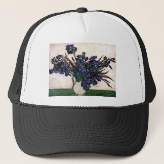 Irises in Vase by Vincent Van Gogh Trucker Hat