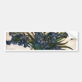 Irises In Vase (Van Gogh) Bumper Sticker