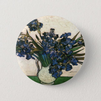 Irises In Vase (Van Gogh) Pinback Button